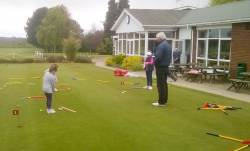 Andrew Bownes teaching the juniors on a Saturday afternoon