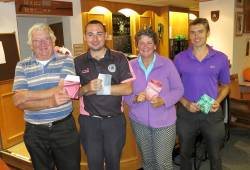 Pot of Gold Winners, 1st Dan Stanley 111 points, 2nd Adam Law 108 points, 3rd Tony Riordan 107 points best lady Jane Burrows 93 points
