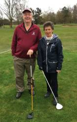 Captain's Drive In, Club Captain David Hartley doing his 2nd year in office and the Ladies Captain Diane Blake